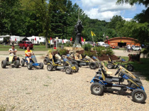 2016-pedal-kart-station at austin lake rv park in ohio