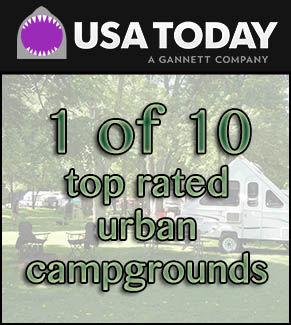 austin lake park is ranked as one of the top 10 urban campgrounds in the US