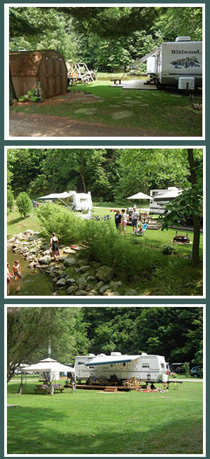 seasonal camping is great family fun at Austin Lake RV Park and Cabins in southeast Ohio