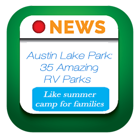 MSN has recognized Austin Lake Park as one of 35 amazing rv parks