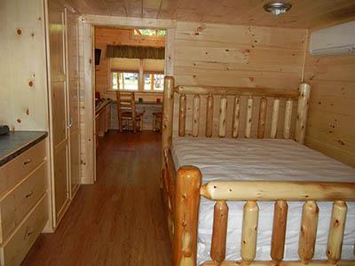 blue heron cabin bedroom