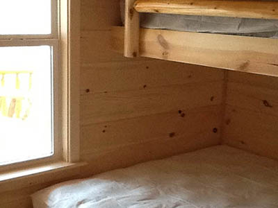 bunks at eagle cabin