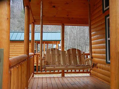 porch at eagle cabin