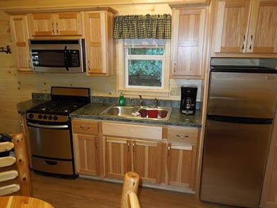 keyhole cabin kitchen