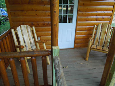 train cabin porch