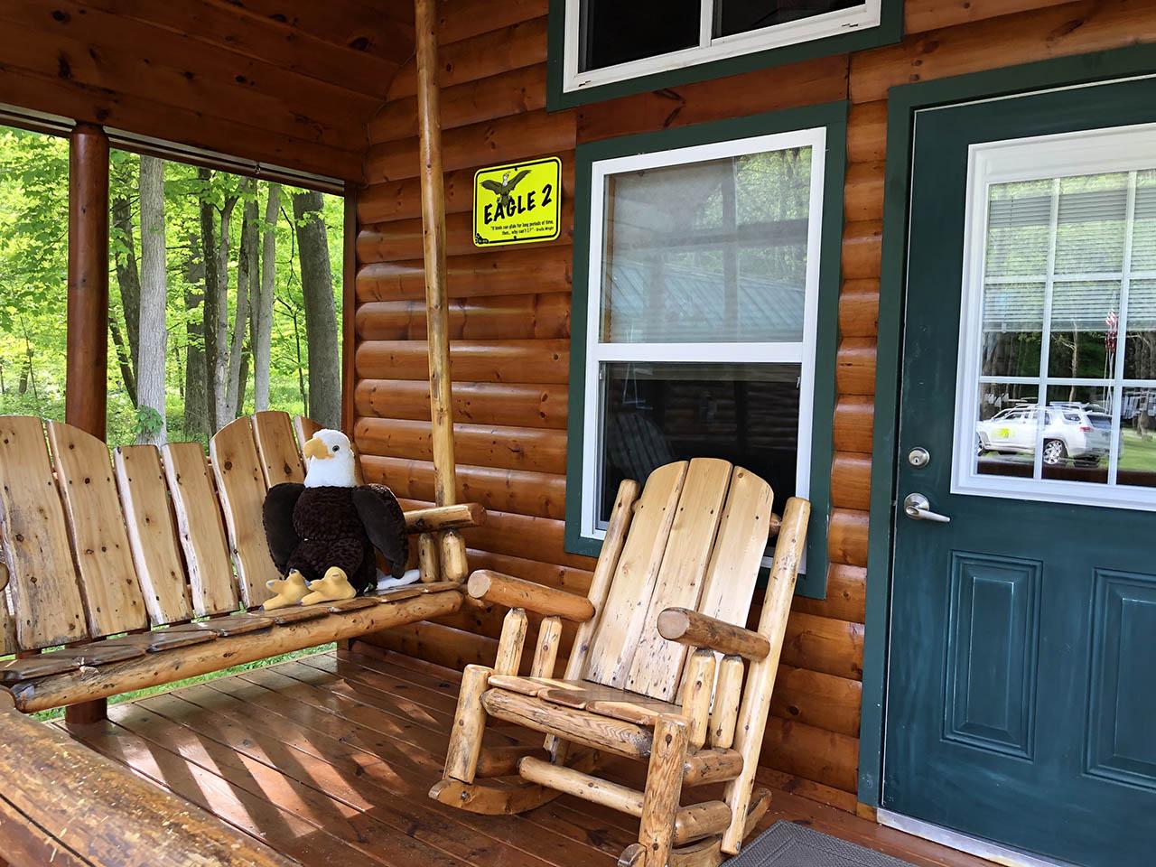 eagle cabin porch