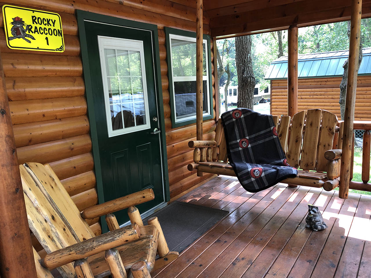 porch swing and chair