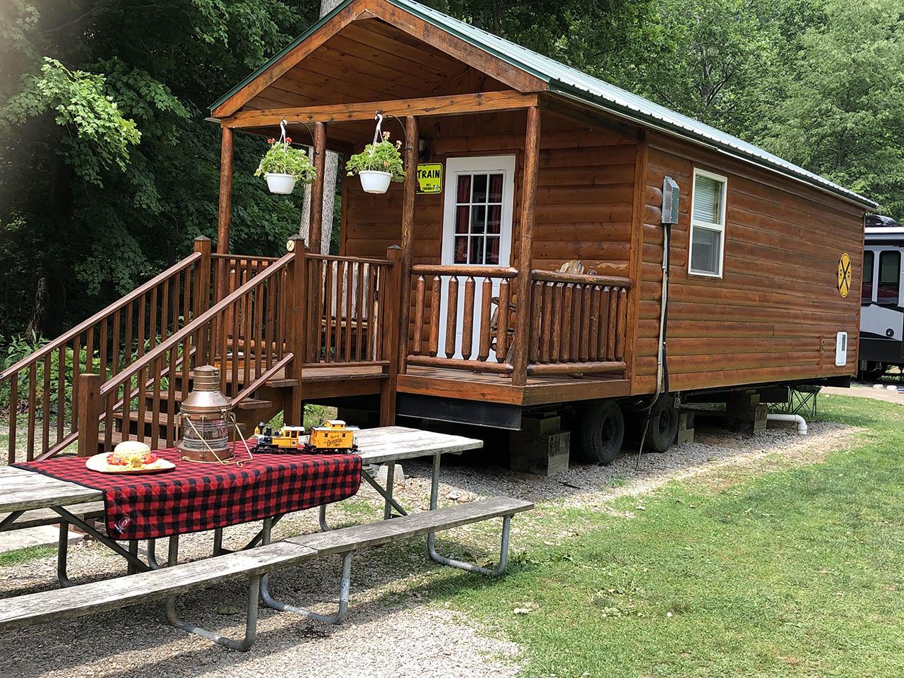 exterior train cabin