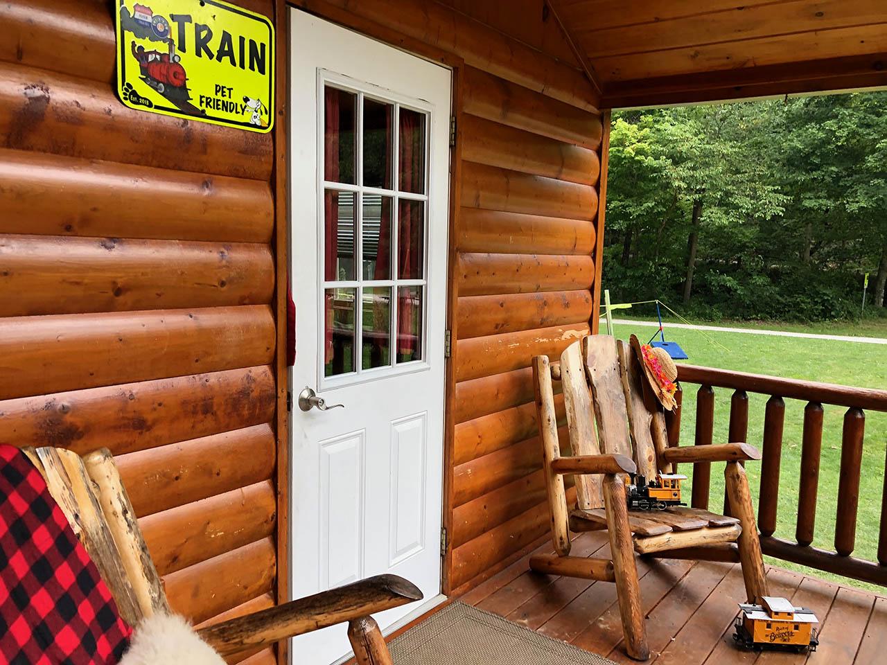 exterior cabin porch